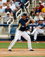 Chris Duffy - Milwaukee Brewers - 2009 spring training.Photo by:  Bill Mitchell/Four Seam Images