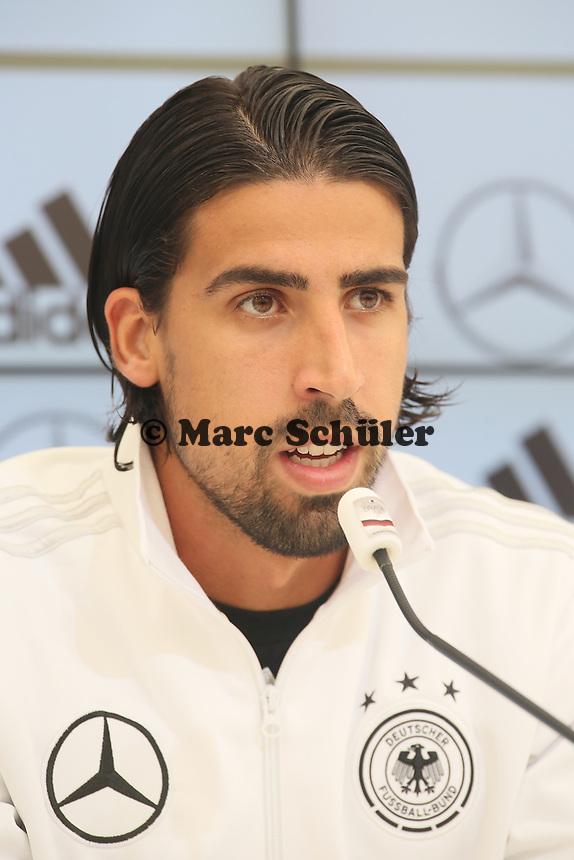 Sami Khedira - Pressekonferenz der Deutschen Nationalmannschaft  im Rahmen der WM-Vorbereitung in St. Martin