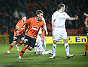 :: DUNDEE UTD'S BARRY DOUGLAS CELEBRATES AFTER HE  HEADS HOME UNITED'S FIRST ::