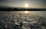 KAILUA-KONA, HI - OCTOBER 12:  A view of the mass 2000 person swim start during the 2013 Ironman World Championship on October 12, 2013 in Kailua-Kona, Hawaii. (Photo by Donald Miralle) *** Local Caption ***