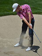 June 29, 2013  (Bethesda, Maryland)  Roberto Castro hits a shot from the bunker on Hole 3 during the 3rd Round of the AT&T National at Congressional Country Club in Bethesda, MD.  (Photo by Don Baxter/Media Images International)
