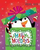 Sarah, CHRISTMAS ANIMALS, WEIHNACHTEN TIERE, NAVIDAD ANIMALES, paintings+++++PenguininPresent-18-A,USSB610,#xa# ,penguin,penguins,