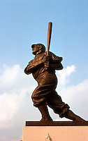 Ballparks: Pittsburgh PNC Park. Bronze of Honus Wagner. This is at home plate entrance, NW corner. Sculpture from 1950's was at Forbes Field.