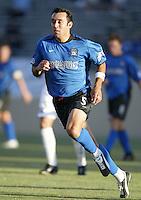 12 June 2004: Ramiro Corrales in action against MetroStars at Spartan Stadium in San Jose, California.    Earthquakes defeated MetroStars, 3-1.  Mandatory Credit: Michael Pimentel / ISI