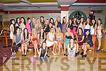 Here Comes the Girls: Sarah Keane and Avril Sheehy, Castleisland seated centre who celebrated their 21st birthdays with their friends and family in the River Island Hotel, Castleisland on Saturday night..