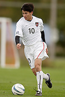 Joselito Vaca of the MetroStars. The MetroStars defeated the Chicago Fire 2-0 during the inaugural Hall of Fame game on Monday October 11, 2004 at At-A-Glance Field at the National Soccer Hall of Fame and Museum, Oneonta, NY..