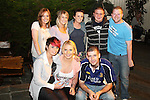 David Lucey (front right) with friends celebrating his birthday in the Black Bull...Picture Jenny Matthews/Newsfile.ie