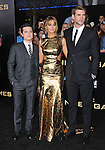 Josh Hutcherson, Jennifer Lawrence and Liam Hemsworth at premiere for The Hunger Games held at the Nokia Theatre L.A. Live Los Angeles, CA. March 12, 2012