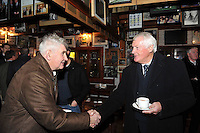 17-12-2012: Mick O'Dwyer and Billy Morgan pictured at Paidi O&quot;Se's wake in Ventry, County Kerry on Monday.<br /> Picture by Don MacMonagle