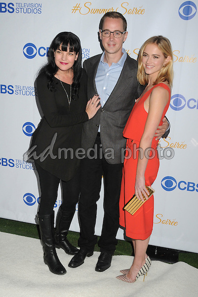 18 May 2015 - West Hollywood, California - Pauley Perrette, Sean Murray, Emily Wickersham. 3rd Annual CBS Television Studios Rooftop Summer Soiree held at The London Hotel. Photo Credit: Byron Purvis/AdMedia