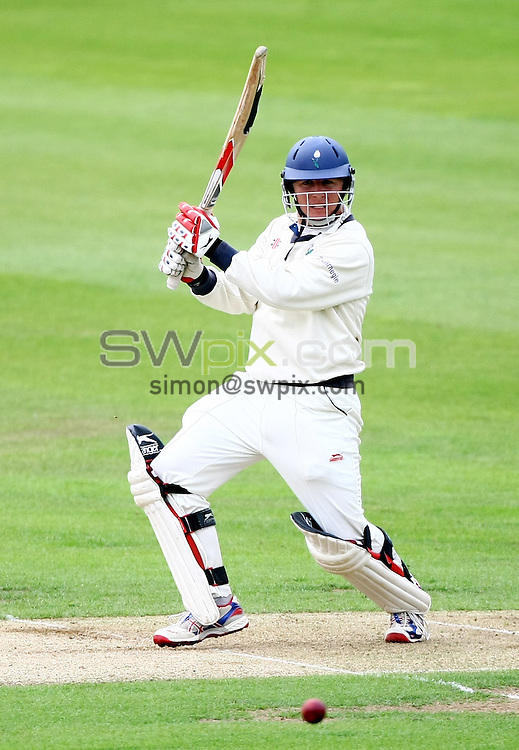 PICTURE BY VAUGHN RIDLEY/SWPIX.COM...Cricket - County Championship - Yorkshire v Warwickshire, Day 1 - Headingley, Leeds, England - 23/08/11...Yorkshire's Gary Ballance hits out.