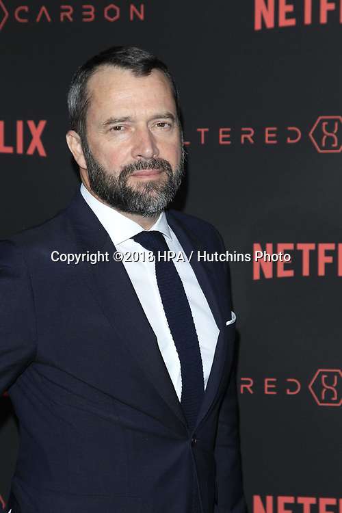 "LOS ANGELES - FEB 1:  James Purefoy at the ""Altered Carbon"" Season 1 Premiere Screening at the Mack Sennett Studios on February 1, 2018 in Los Angeles, CA"