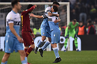 Danilo Cataldi of Lazio celebrates with Lucas Leiva after scoring the goal of 3-0   <br /> Roma 2-3-2019 Stadio Olimpico Football Serie A 2018/2019 SS Lazio - AS Roma <br /> Foto Andrea Staccioli / Insidefoto