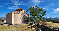 Picture and image of the Byzantine Romanesque church of Santa Sabina at Santa Sabina Nuragic archaeological site, Middle Bronze age , Silanus ,  Sardinia.
