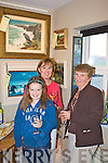 At the grand opening of Declan Mulvany's new art gallery Irishartcollector.com Valentia Island were l-r Ciara & Brenda Cahill with Bridie Egan.