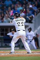Matt Davidson (22) of the Charlotte Knights at bat against the Syracuse Chiefs at BB&T BallPark on June 1, 2016 in Charlotte, North Carolina.  The Knights defeated the Chiefs 5-3.  (Brian Westerholt/Four Seam Images)