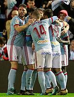Celta de Vigo's players celebrates goal during Spanish Kings Cup match. January 4,2018. (ALTERPHOTOS/Acero)