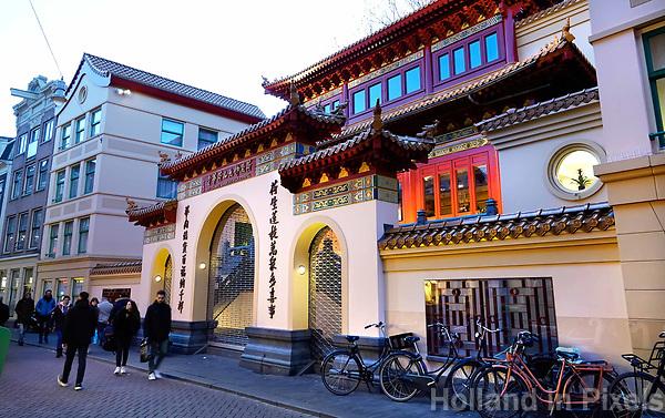 Nederland Amsterdam. 2019. De Chinese F.G.S He Hua Temple op de Zeedijk. Foto Berlinda van Dam / Hollandse Hoogte