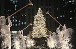 Christmas Tree at Night, Rockefeller Center, New York, N.Y.