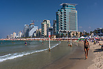 Middle East, Israel, Tel Aviv, beach scene