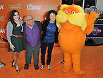 Danny DeVito with his wife Rhea Perlman and their daughter at the Dr. Seuss The Lorax Premiere held at  Universal Studios  Hollywood, Universal City, CA.. February 19, 2012