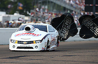 Aug. 18, 2013; Brainerd, MN, USA: NHRA pro stock driver Greg Anderson during the Lucas Oil Nationals at Brainerd International Raceway. Mandatory Credit: Mark J. Rebilas-