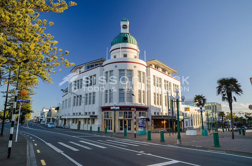 Art deco building (formerly 'The Dome') on Marine Parade, Napier.