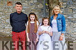 Daisy Ní Bhraoin from Gaelscoil Mhic Easmainn NS received her First Holy Communion in St John's Church on Saturday.<br /> L to r: Francie and Ella Mae Breen and Ann Riordan