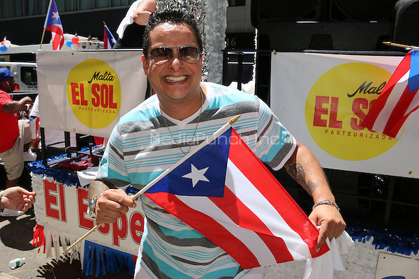 NEW YORK, NY - JUNE 12: Tito Puente Jr. at The 2016 NY Puerto Rican Day Parade in New York City on June 12, 2016. Credit: Walik Goshorn/MediaPunch