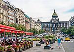 Praga, stolica Czech. 2013-07-23. Centrum miasta - Plac Wacława.