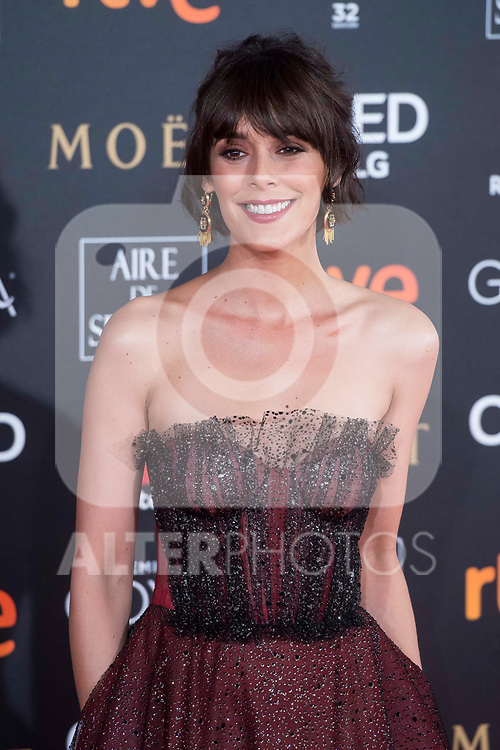 Belen Cuesta attends red carpet of Goya Cinema Awards 2018 at Madrid Marriott Auditorium in Madrid , Spain. February 03, 2018. (ALTERPHOTOS/Borja B.Hojas)