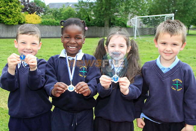 Rain mcshane Michelle nhererg Alan's Callan Conor McCullough.at the Scoil Bhride Sports Day in Dunleer.Picture www.newsfile.ie