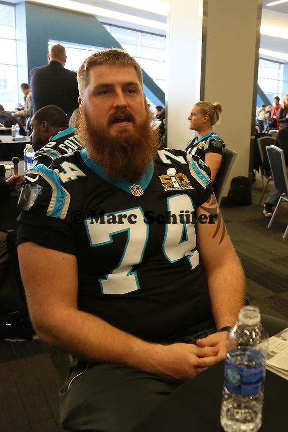 OT Mike Remmers (Panthers) - Super Bowl 50 Carolina Panthers PK, Convention Center San Jose