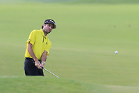 Bubba Watson (USA) chips onto the 14th green during Thursday's Round 1 of the 2017 PGA Championship held at Quail Hollow Golf Club, Charlotte, North Carolina, USA. 10th August 2017.<br /> Picture: Eoin Clarke | Golffile<br /> <br /> <br /> All photos usage must carry mandatory copyright credit (&copy; Golffile | Eoin Clarke)