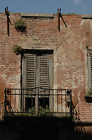 Old house in need of repair, Mestre, Italy.