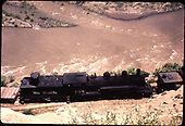 D&amp;RGW #498 along San Juan River near Gato.<br /> D&amp;RGW  Gato area, CO