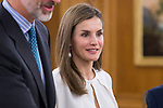 Queen Letizia of Spain receive in audience to permanent commission of the federation of religious entities of Spain at Zarzuela Palace in Madrid, July 27, 2017. Spain.<br /> (ALTERPHOTOS/BorjaB.Hojas)