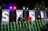 United States President Barack Obama, left, Leonardo DiCaprio, right, and Dr. Katharine Hayhoe, center, have a a panel discussion on climate change as part of the White House South by South Lawn (SXSL) event about the importance of protecting the one planet we&rsquo;ve got for future generations, on the South Lawn of the White House, Washington DC, October 3, 2016. <br /> Credit: Aude Guerrucci / Pool via CNP /MediaPunch