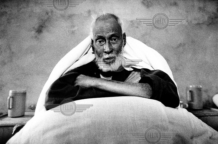 Old man suffering from tuberculosis (TB).