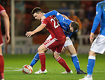 Aberdeen v St Johnstone...01.01.15   SPFL<br /> Ryan Jack holds off James McFadden<br /> Picture by Graeme Hart.<br /> Copyright Perthshire Picture Agency<br /> Tel: 01738 623350  Mobile: 07990 594431