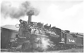 3/4 left side view of K-28 #475.<br /> D&amp;RGW