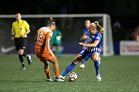 Boston, MA - Wednesday August 16, 2017: Amber Brooks, Rosie White during a regular season National Women's Soccer League (NWSL) match between the Boston Breakers and the Houston Dash at Jordan Field.