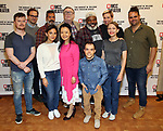 "Steven Boyer, Ryan Spahn, Sas Goldberg, Alfredo Narciso, Ako, Gene Jones, Matthew Jeffers, Ray Anthony Thomas, Tavi Gevinson, Rebecca Henderson and Greg Hildreth during The MCC Theater's ""Moscow Moscow Moscow Moscow Moscow Moscow"" at The MCC Theater Rehearsal Studio on May 28, 2019 in New York City."