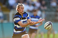 Will Flinn of Bath United passes the ball. Aviva A-League match, between Bath United and Saracens Storm on September 1, 2017 at the Recreation Ground in Bath, England. Photo by: Patrick Khachfe / Onside Images