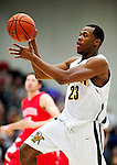 17 January 2010: University of Vermont Catamount forward Marqus Blakely, a Senior from Metuchen, NJ, in action against the Boston University Terriers at Patrick Gymnasium in Burlington, Vermont. The Catamounts, holding the lead for the entire game, defeated the Terriers 78-58. Mandatory Credit: Ed Wolfstein Photo