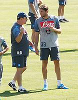 Napoli Calcio ritiro precampionato a Dimaro ( TN)  18 Luglio 2014<br /> nella foto   Rafael Benitez  Michu