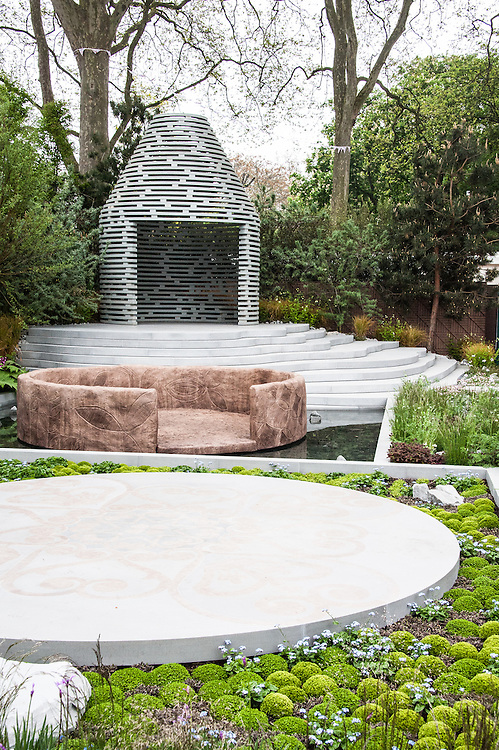 """The Sentebale Forget-Me-Not Garden,  designed by Jinny Blom, Silver Gilt medal winner, RHS Chelsea Flower Show 2013. Inspired by Prince Harry's charity Sentebale, which means """"Forget Me Not"""" in Sesotho, the language spoken in Lesotho."""