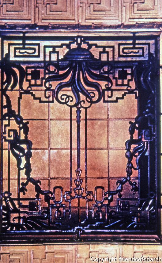 Frank Lloyd Wright:Mayan detail, Ennis-Brown House, Los Angeles.
