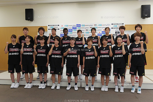 Japan women's team (JPN),<br /> June 10, 2015 - Basketball : <br /> Japan women's national team training session for 2015 FIBA Asia Championship for Women<br /> at Ajinomoto National Training Center, Tokyo, Japan. <br /> (Photo by Shingo Ito/AFLO SPORT)