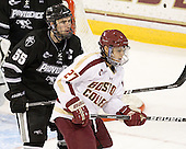 Daniel New (PC - 55), Quinn Smith (BC - 27) - The Boston College Eagles defeated the Providence College Friars 7-0 on Saturday, February 25, 2012, at Kelley Rink at Conte Forum in Chestnut Hill, Massachusetts.